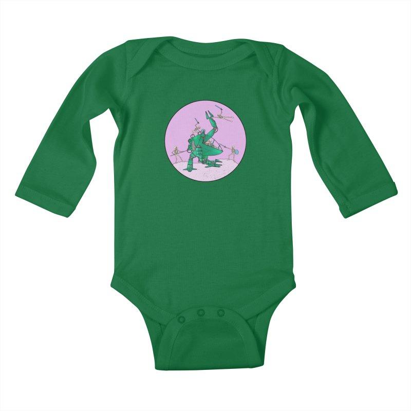 Future Space 3 Kids Baby Longsleeve Bodysuit by Steven Compton's Artist Shop