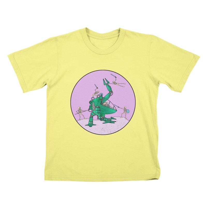 Future Space 3 Kids T-shirt by Steven Compton's Artist Shop