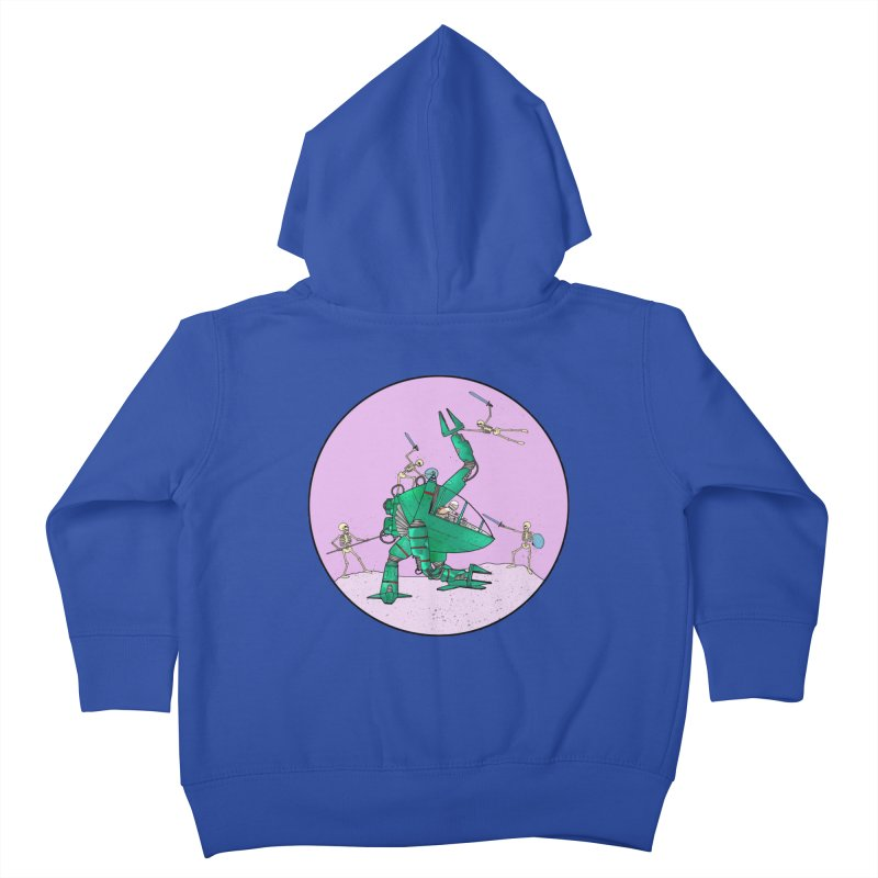 Future Space 3 Kids Toddler Zip-Up Hoody by Steven Compton's Artist Shop