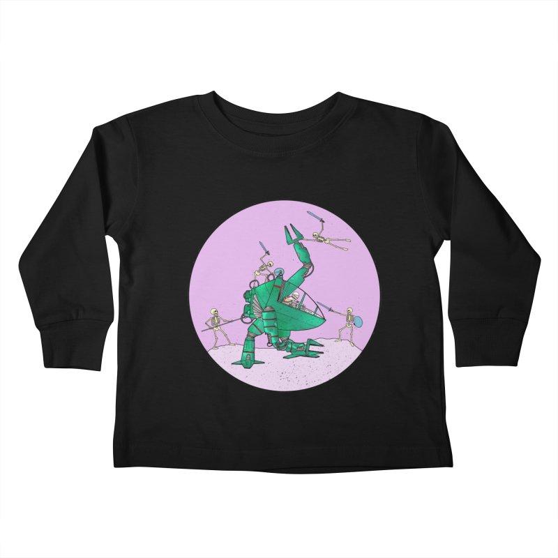 Future Space 3 Kids Toddler Longsleeve T-Shirt by Steven Compton's Artist Shop