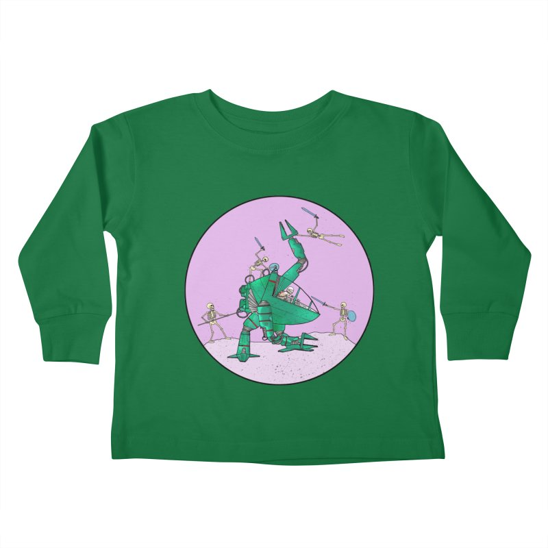 Future Space 3 Kids Toddler Longsleeve T-Shirt by Steven Compton's Artist Shop