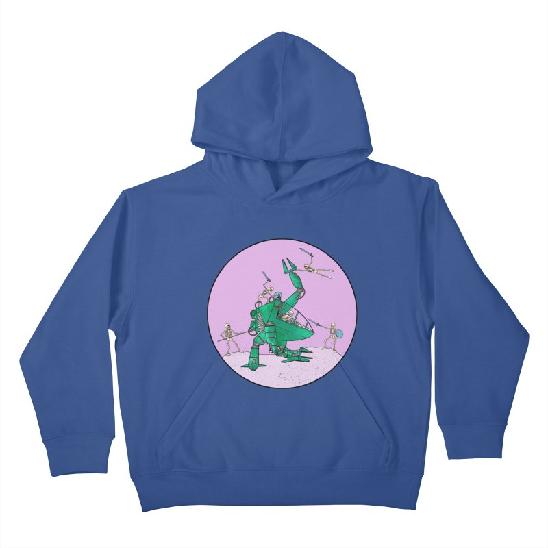 Future Space 3 Kids Pullover Hoody by Steven Compton's Artist Shop