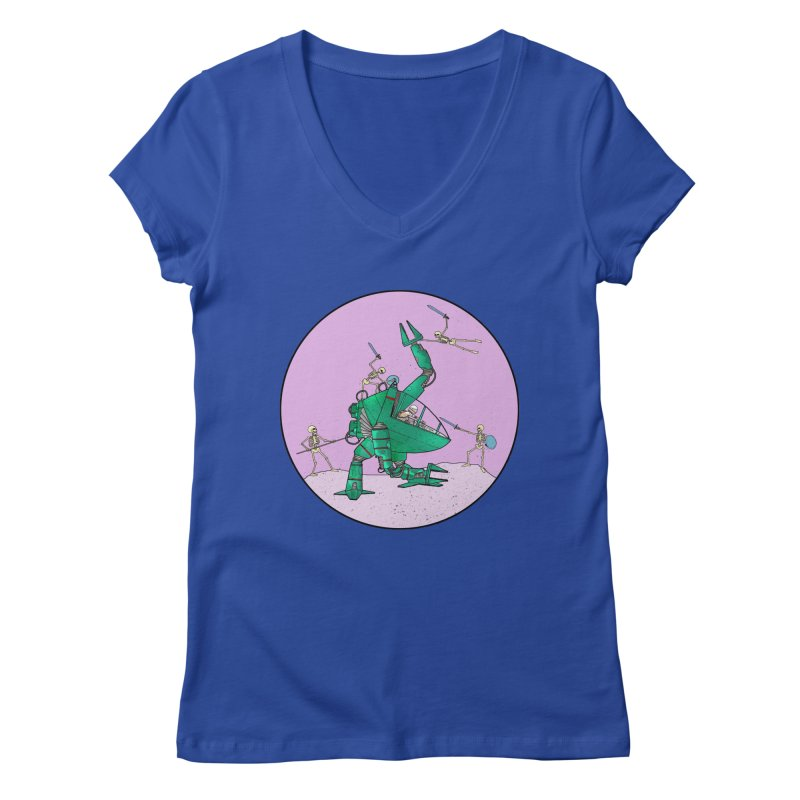 Future Space 3 Women's Regular V-Neck by Steven Compton's Artist Shop