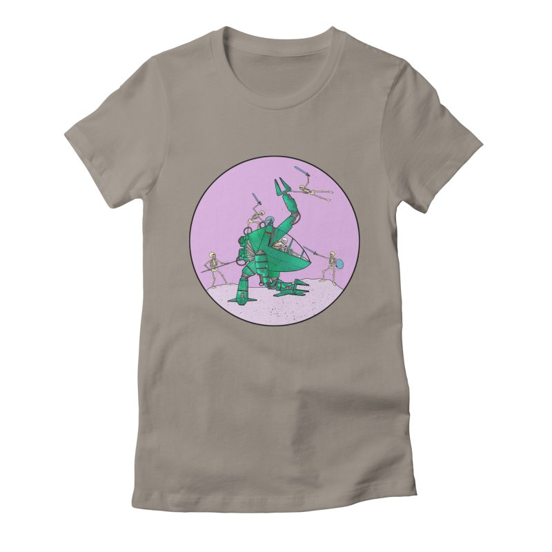 Future Space 3 Women's Fitted T-Shirt by Steven Compton's Artist Shop