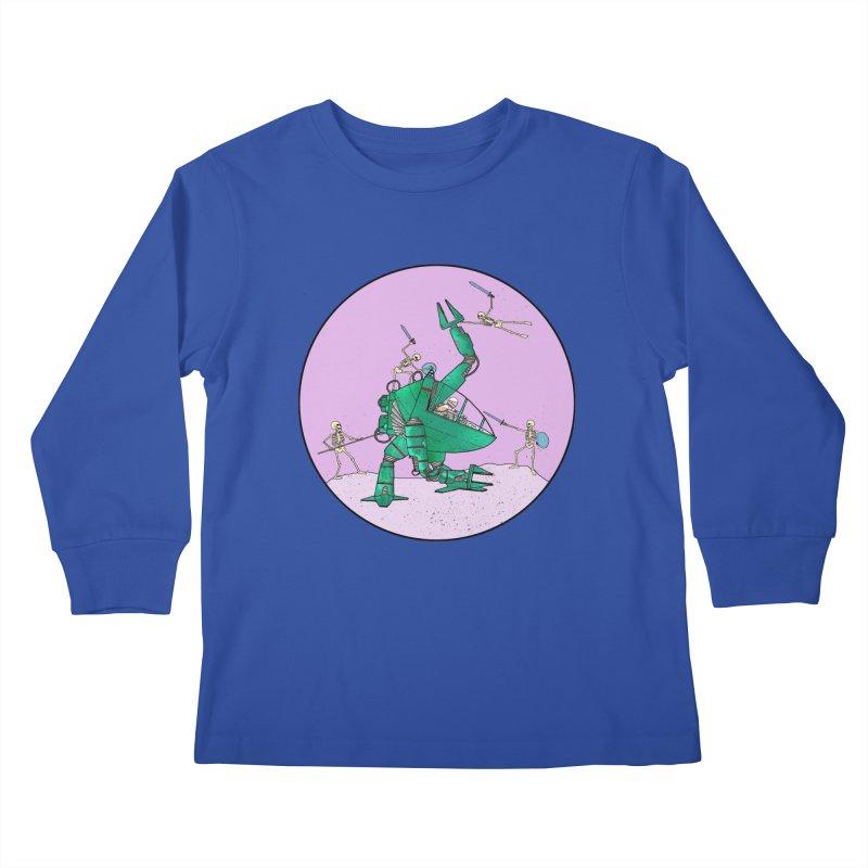 Future Space 3 Kids Longsleeve T-Shirt by Steven Compton's Artist Shop
