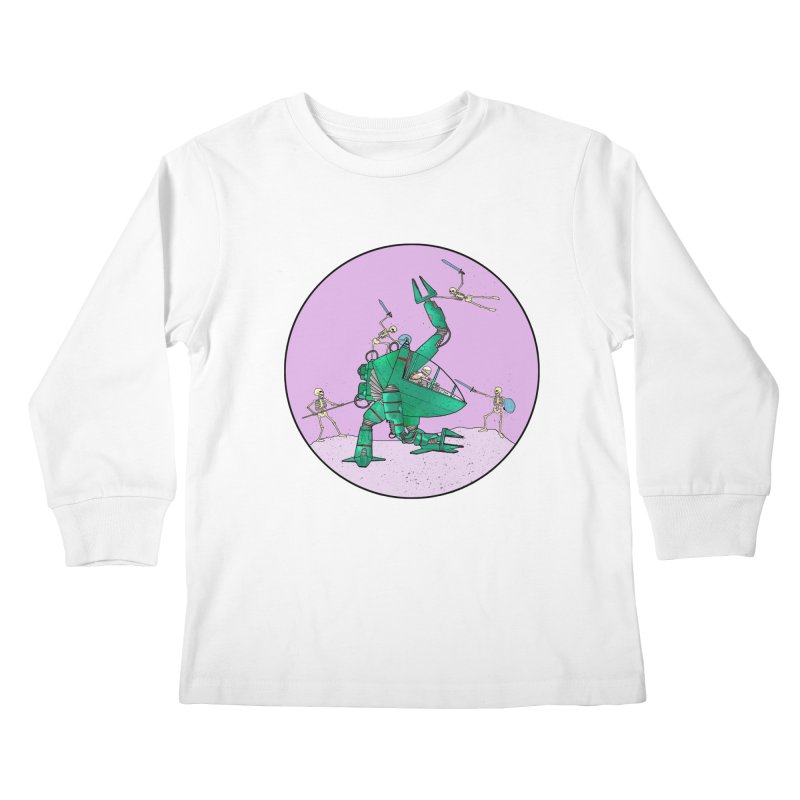 Future Space 3 Kids Longsleeve T-Shirt by Steven Compton's Artist Shop