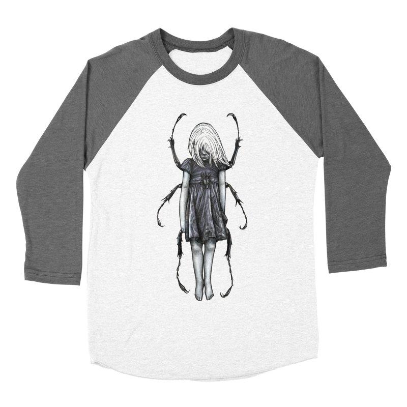 Beetle girl Men's Baseball Triblend T-Shirt by Stevenbossler's Artist Shop