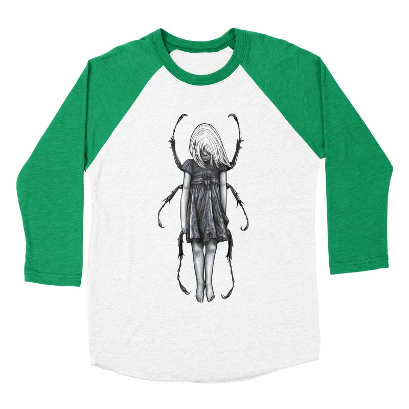Beetle girl Men's Baseball Triblend T-Shirt by Stevenbossler's Artist Shop