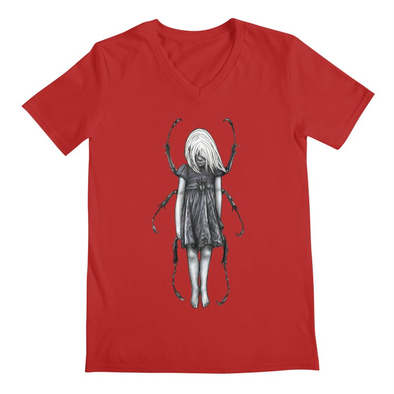 Beetle girl Men's V-Neck by Stevenbossler's Artist Shop