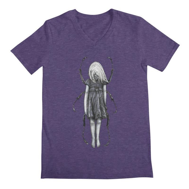 Beetle girl Men's V-Neck by Stevenbossler's Artist Shop