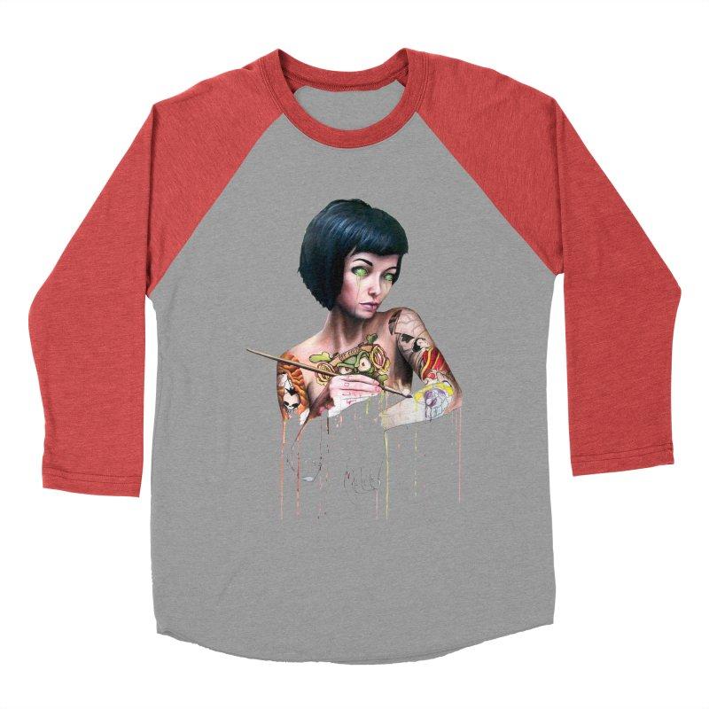 Off-color Clara Women's Baseball Triblend T-Shirt by Stevenbossler's Artist Shop