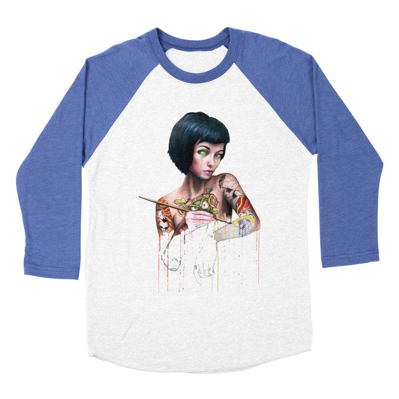 Off-color Clara Men's Baseball Triblend T-Shirt by Stevenbossler's Artist Shop