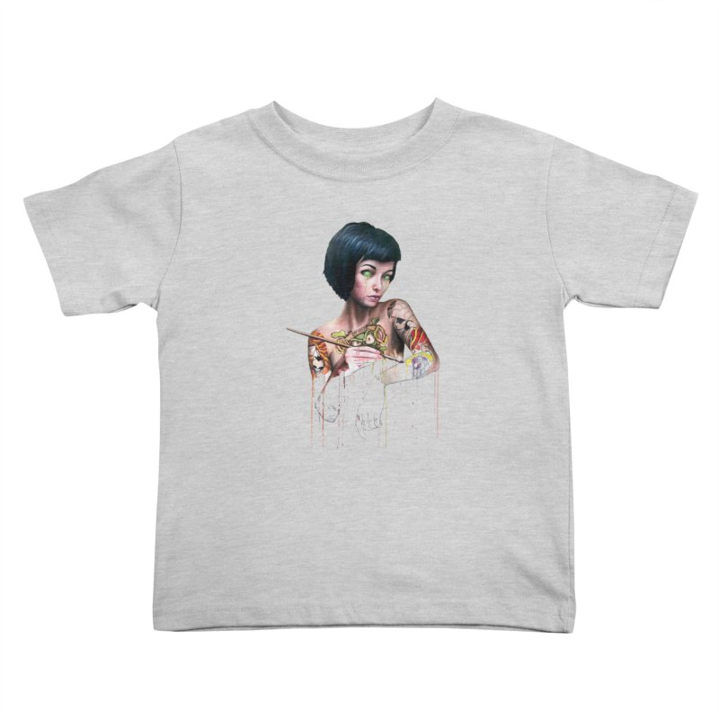 Off-color Clara Kids Toddler T-Shirt by Stevenbossler's Artist Shop