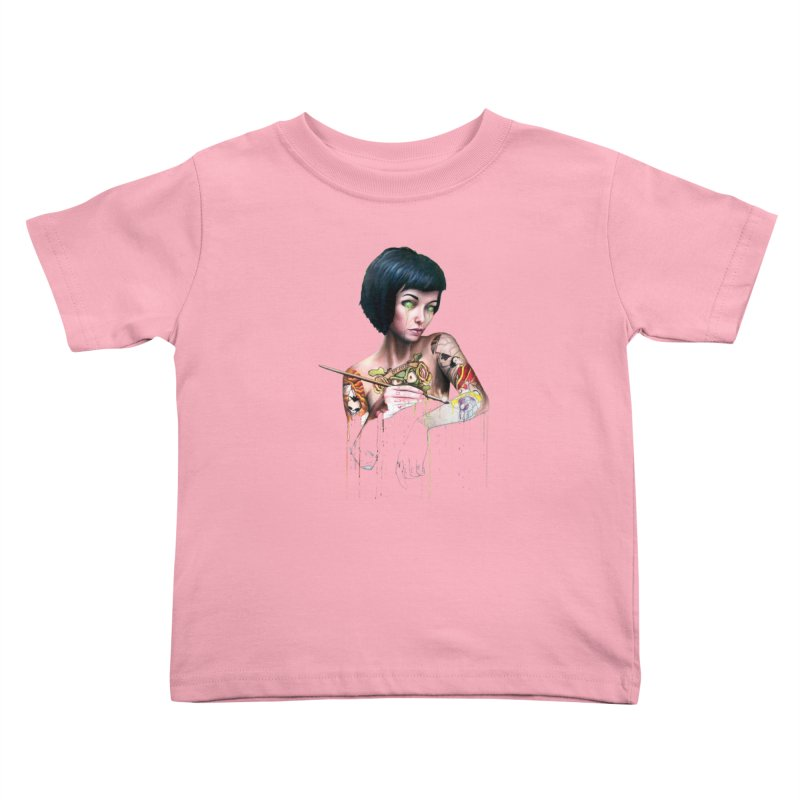 Off-color Clara Kids Toddler T-Shirt by Stevenbossler's Artist Shop
