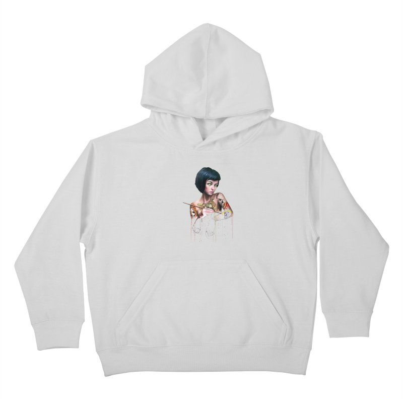 Off-color Clara Kids Pullover Hoody by Stevenbossler's Artist Shop