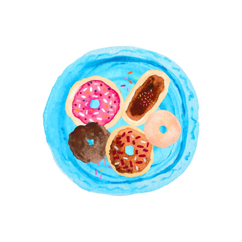 A Plate Of Donuts Men's T-Shirt by Stineiva's Artist Shop