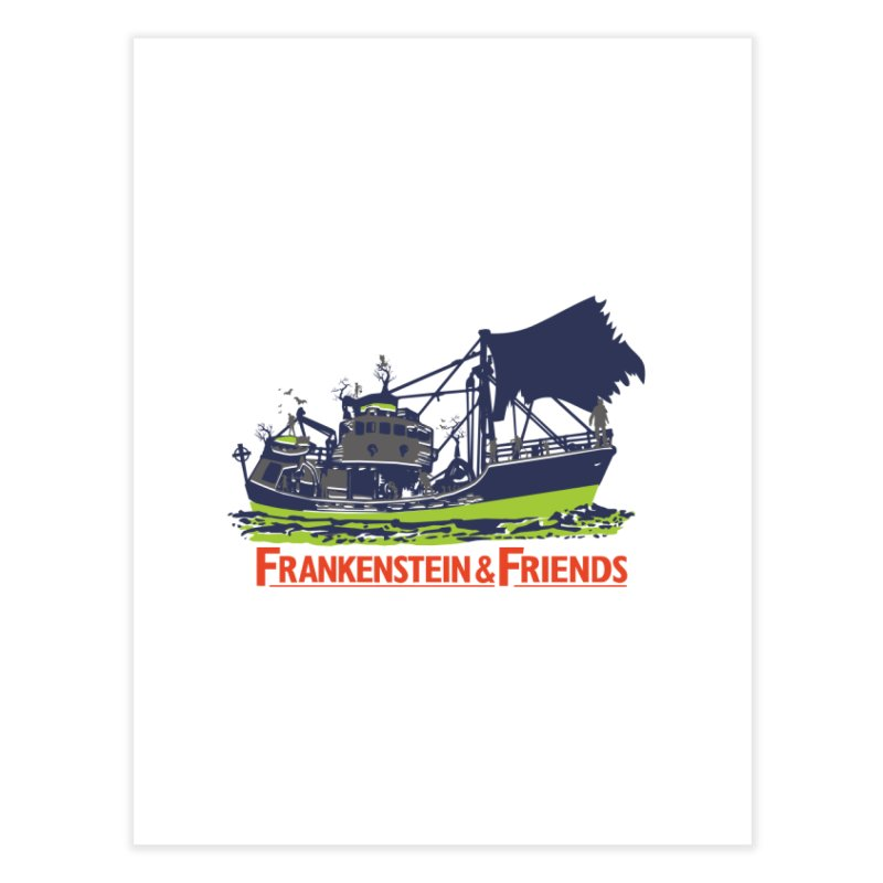 Frankenstein & Friends Home Fine Art Print by Stor's Artist Shop