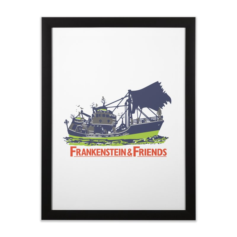 Frankenstein & Friends Home Framed Fine Art Print by Stor's Artist Shop