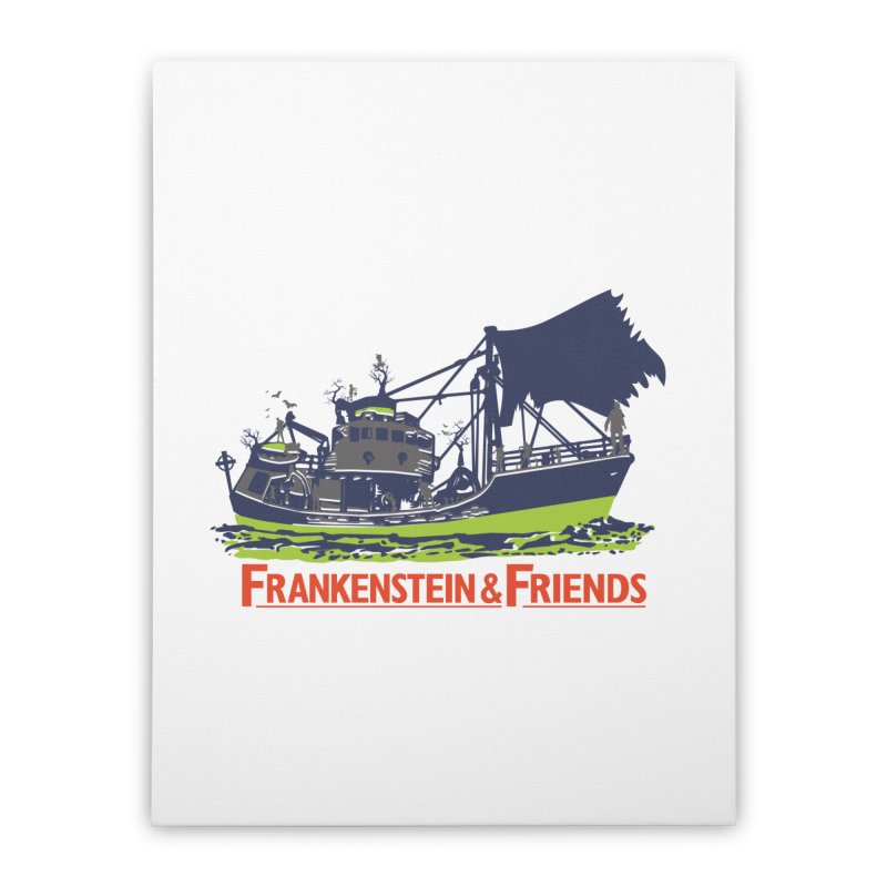 Frankenstein & Friends Home Stretched Canvas by Stor's Artist Shop