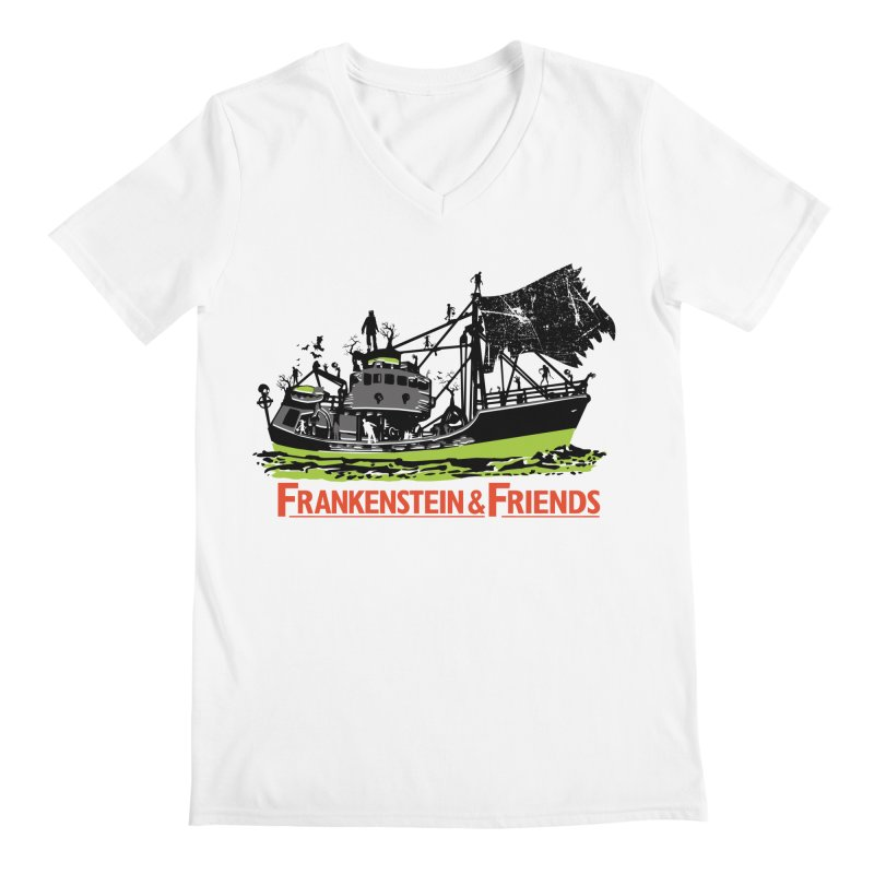 Frankenstein & Friends Men's V-Neck by Stor's Artist Shop