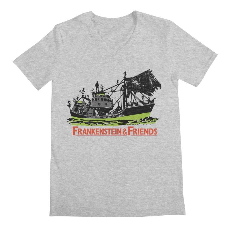 Frankenstein & Friends Men's V-Neck by Stor's Artist Shop