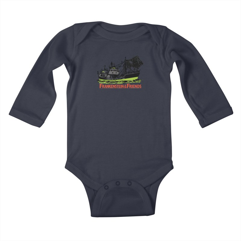 Frankenstein & Friends Kids Baby Longsleeve Bodysuit by Stor's Artist Shop