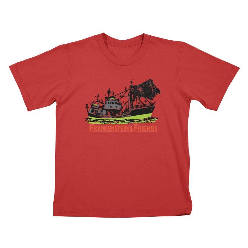 Frankenstein & Friends Kids T-Shirt by Stor's Artist Shop