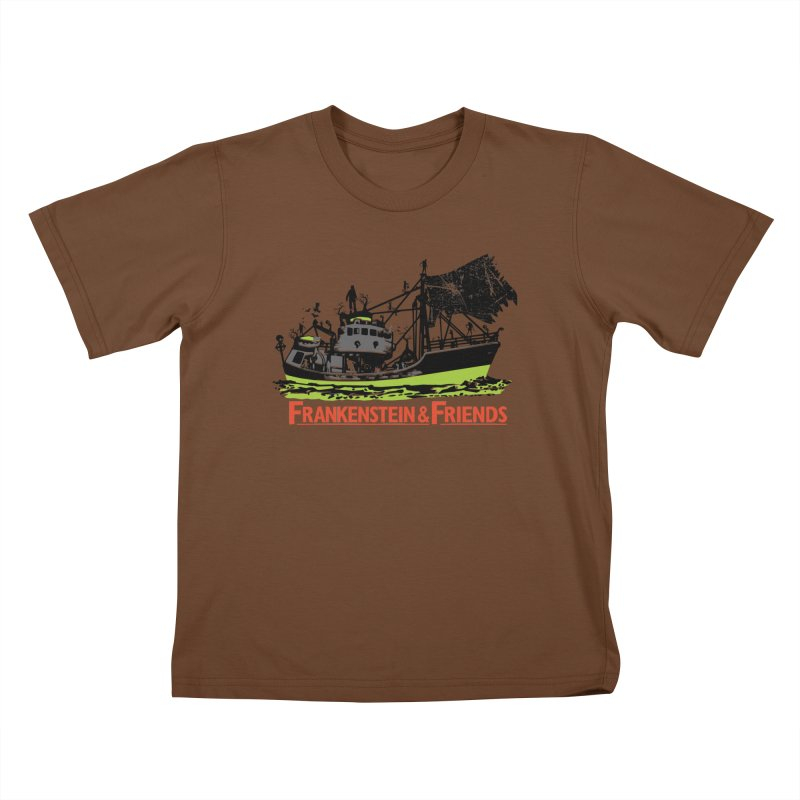 Frankenstein & Friends Kids T-Shirt by Stor's Artist Shop