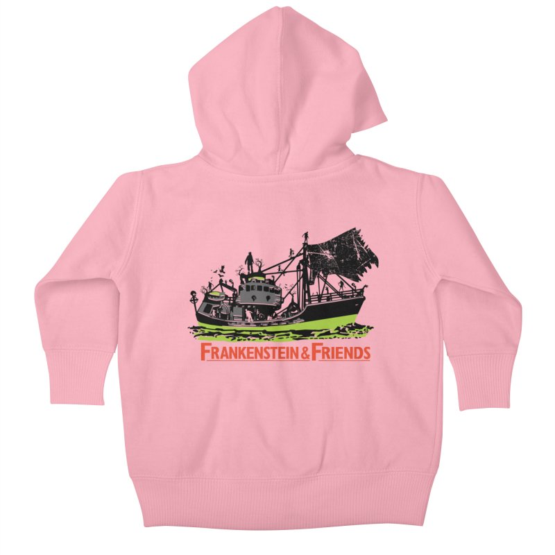Frankenstein & Friends Kids Baby Zip-Up Hoody by Stor's Artist Shop