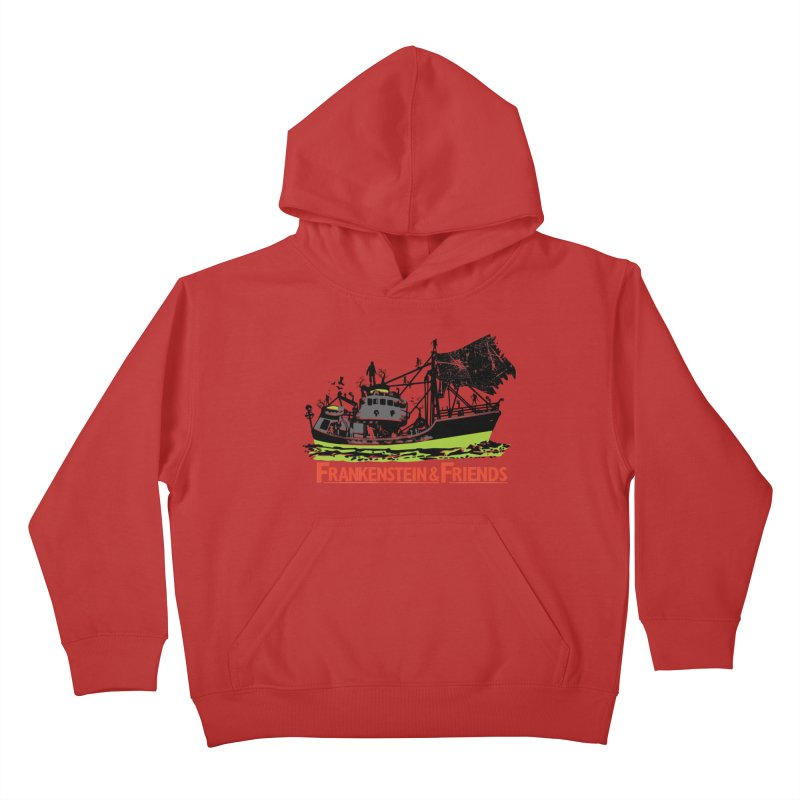 Frankenstein & Friends Kids Pullover Hoody by Stor's Artist Shop