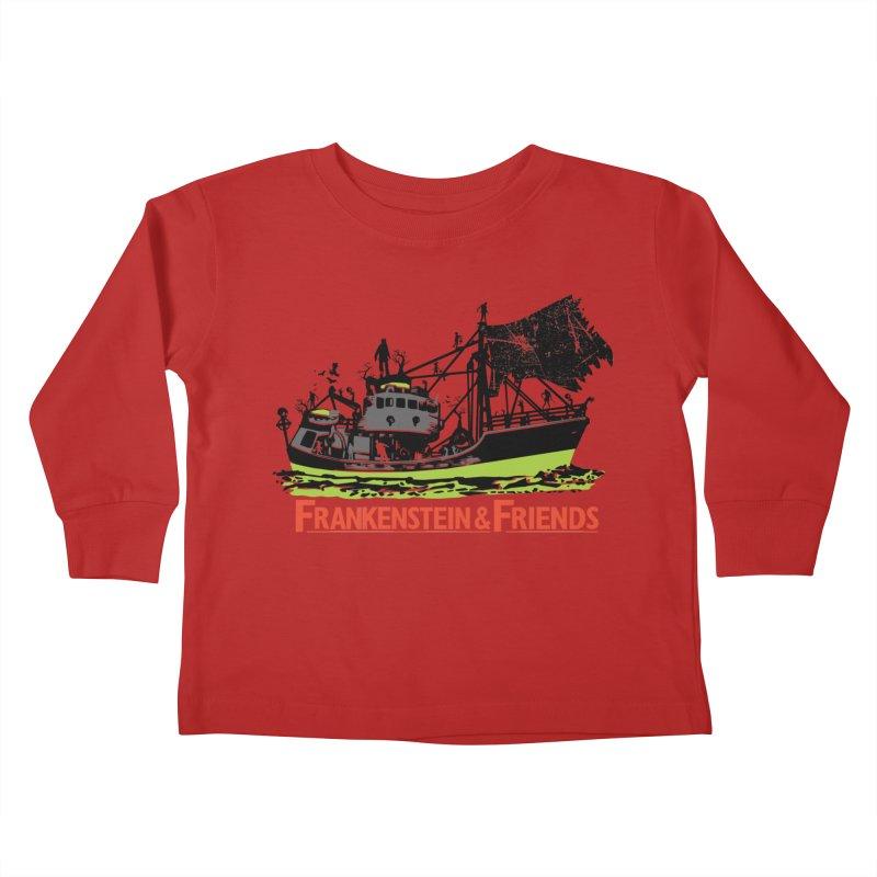 Frankenstein & Friends Kids Toddler Longsleeve T-Shirt by Stor's Artist Shop