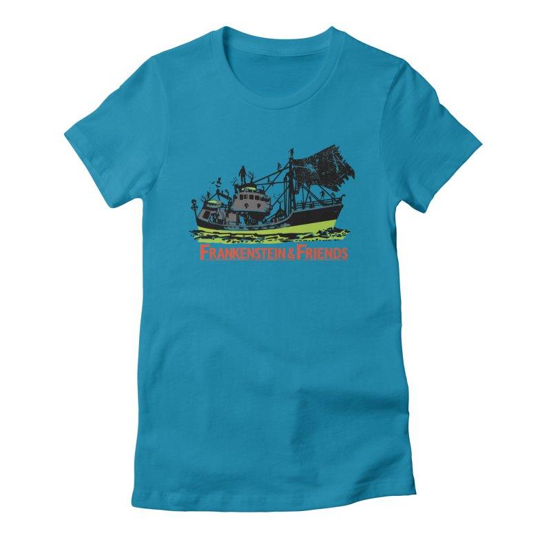 Frankenstein & Friends Women's Fitted T-Shirt by Stor's Artist Shop