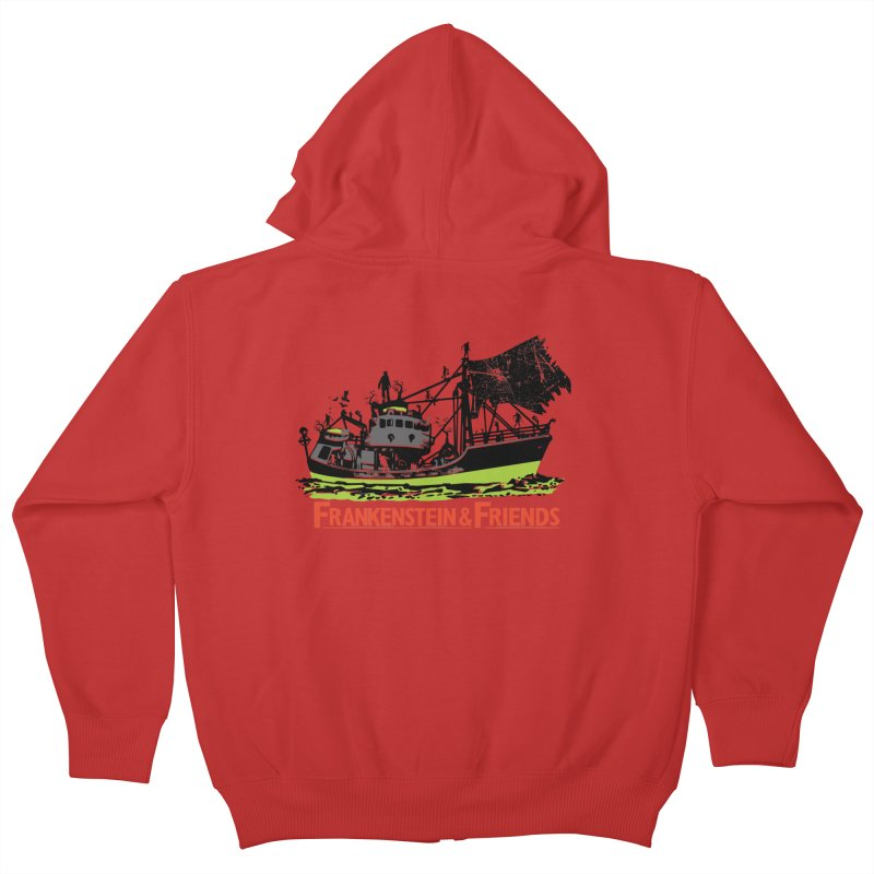 Frankenstein & Friends Kids Zip-Up Hoody by Stor's Artist Shop