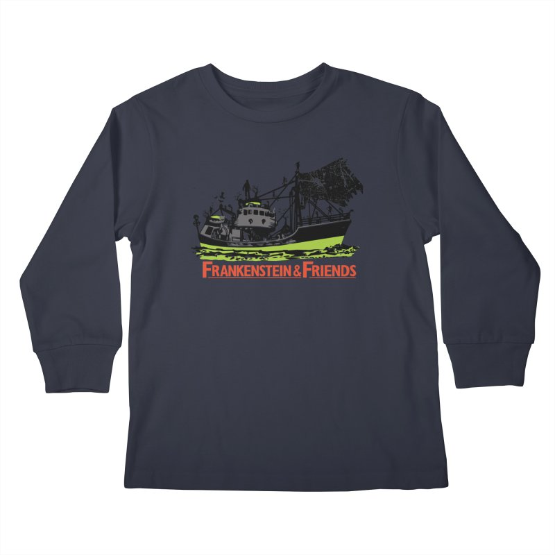 Frankenstein & Friends Kids Longsleeve T-Shirt by Stor's Artist Shop