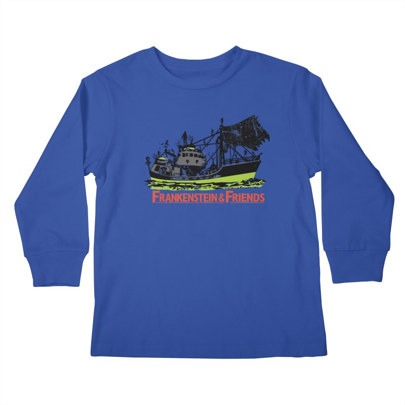 Frankenstein & Friends Kids Longsleeve T-Shirt by Stor's Artist Shop