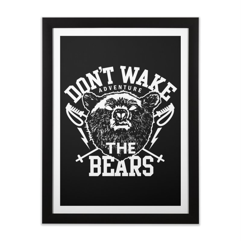 Rock the Bear Home Framed Fine Art Print by Stor's Artist Shop
