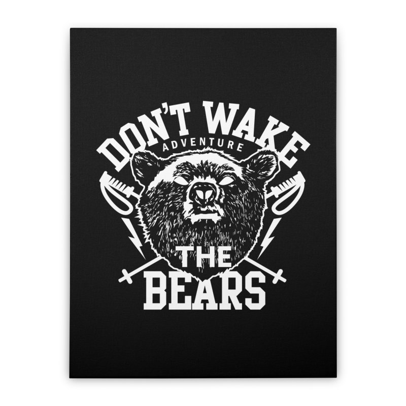 Rock the Bear Home Stretched Canvas by Stor's Artist Shop