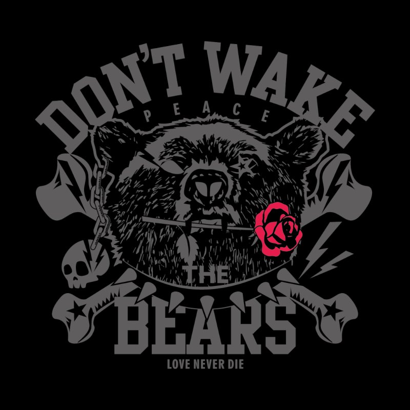 Rock the Bear Men's V-Neck by Stor's Artist Shop