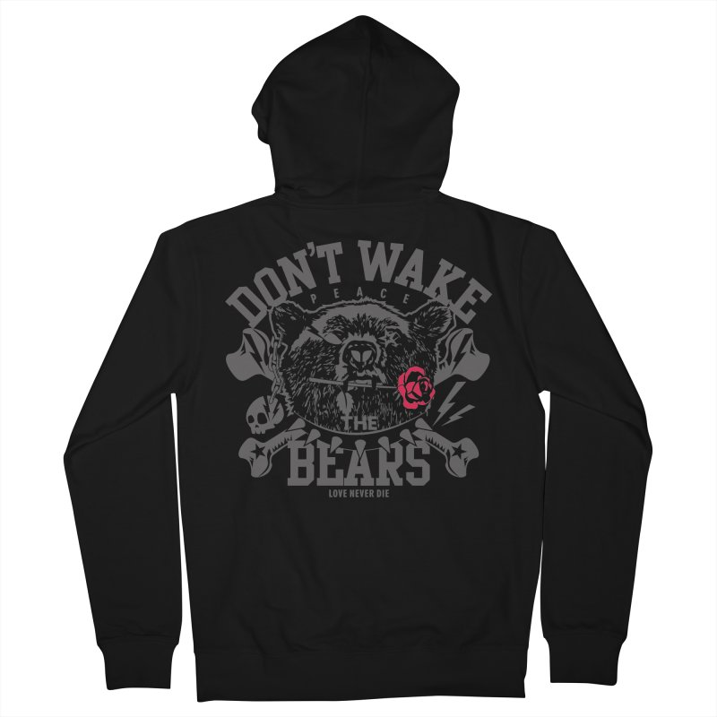 Rock the Bear Men's Zip-Up Hoody by Stor's Artist Shop