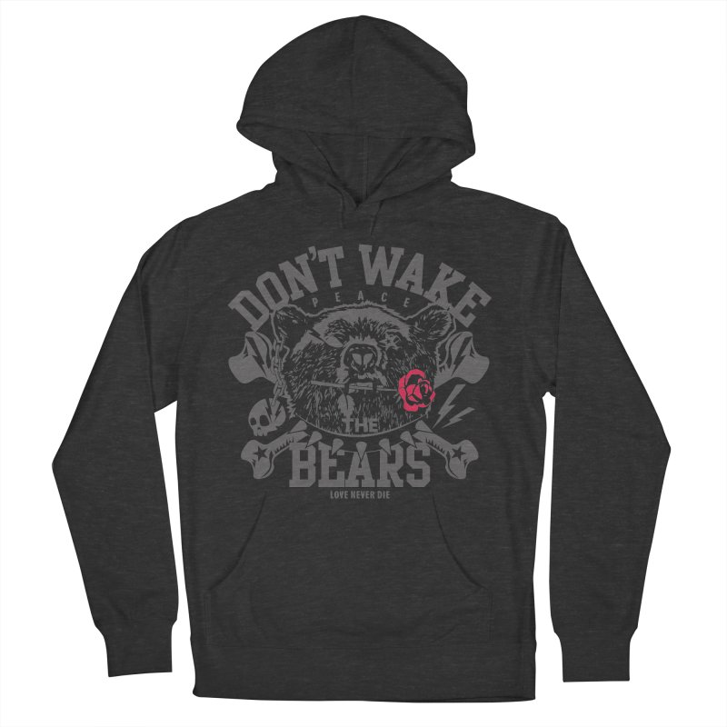 Rock the Bear Women's French Terry Pullover Hoody by Stor's Artist Shop