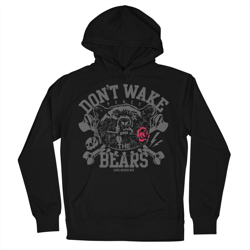 Rock the Bear Men's French Terry Pullover Hoody by Stor's Artist Shop