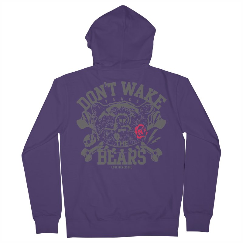 Rock the Bear Women's French Terry Zip-Up Hoody by Stor's Artist Shop