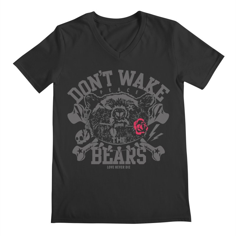 Rock the Bear Men's V-Neck by Stor's Artist Shop