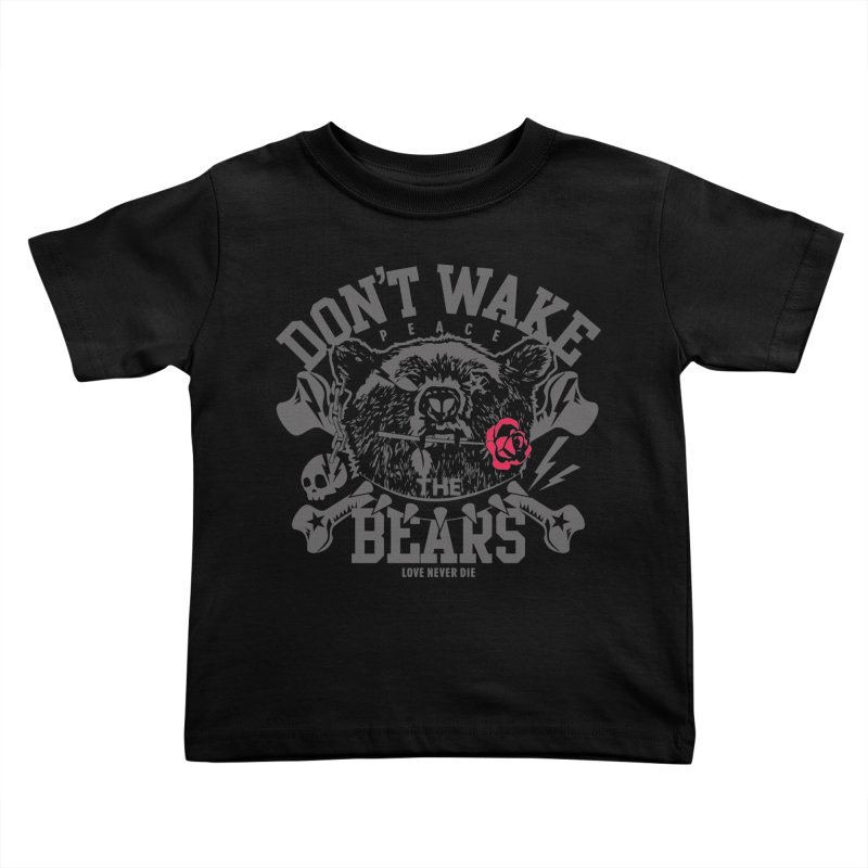 Rock the Bear Kids Toddler T-Shirt by Stor's Artist Shop