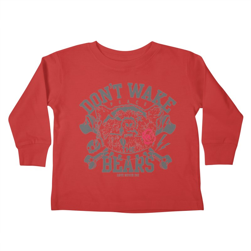 Rock the Bear Kids Toddler Longsleeve T-Shirt by Stor's Artist Shop