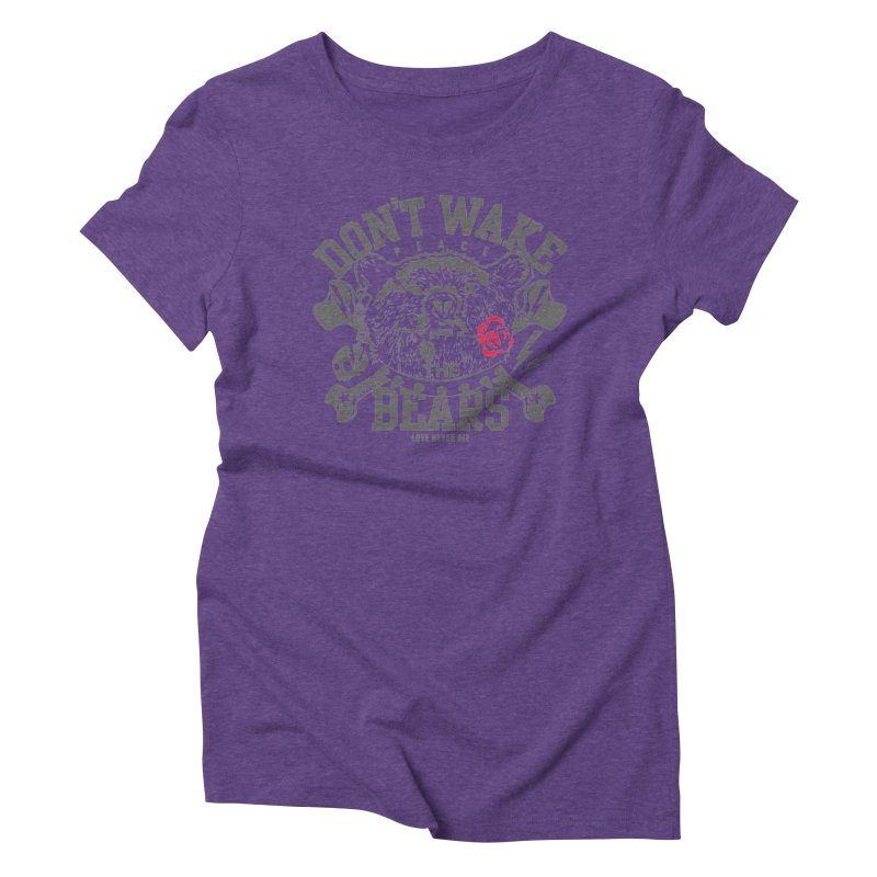 Rock the Bear Women's Triblend T-Shirt by Stor's Artist Shop