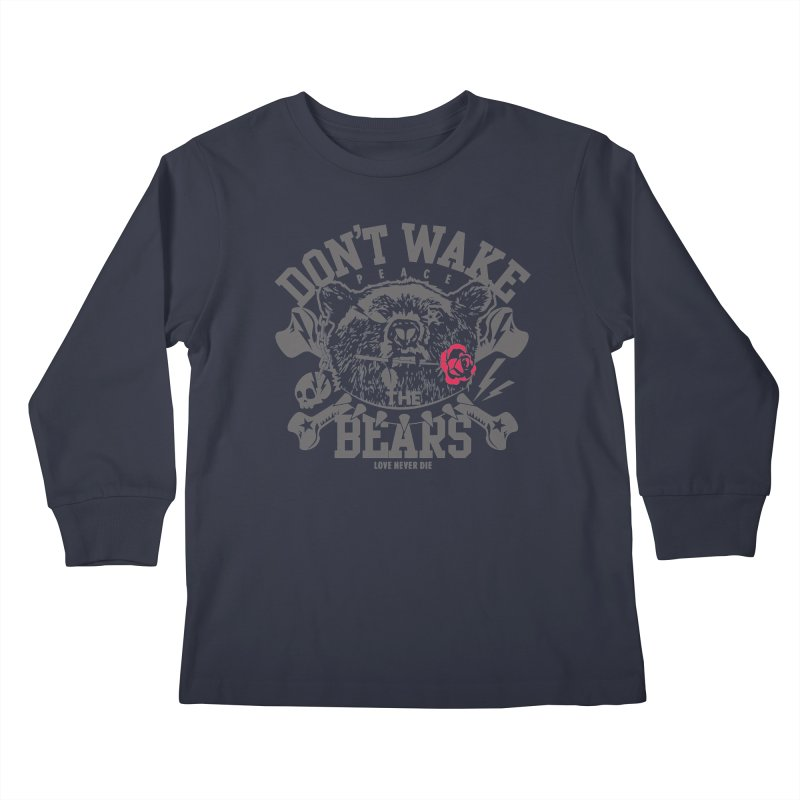 Rock the Bear Kids Longsleeve T-Shirt by Stor's Artist Shop
