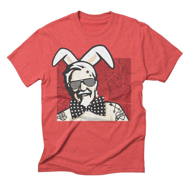 Rocking Mr.Sanders Men's Triblend T-shirt by Stor's Artist Shop