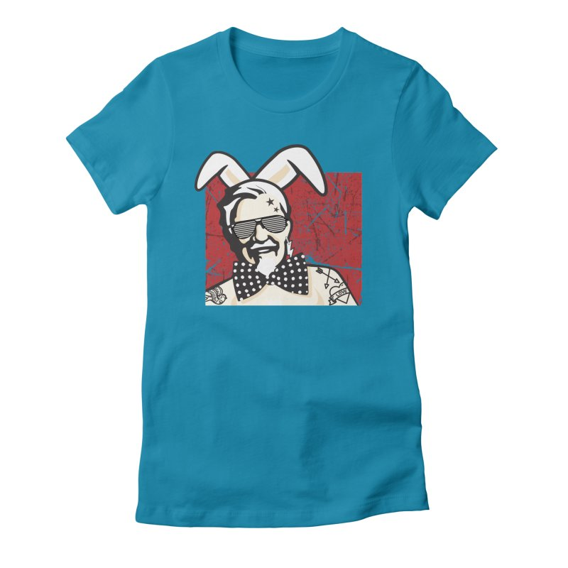 Rocking Mr.Sanders Women's Fitted T-Shirt by Stor's Artist Shop