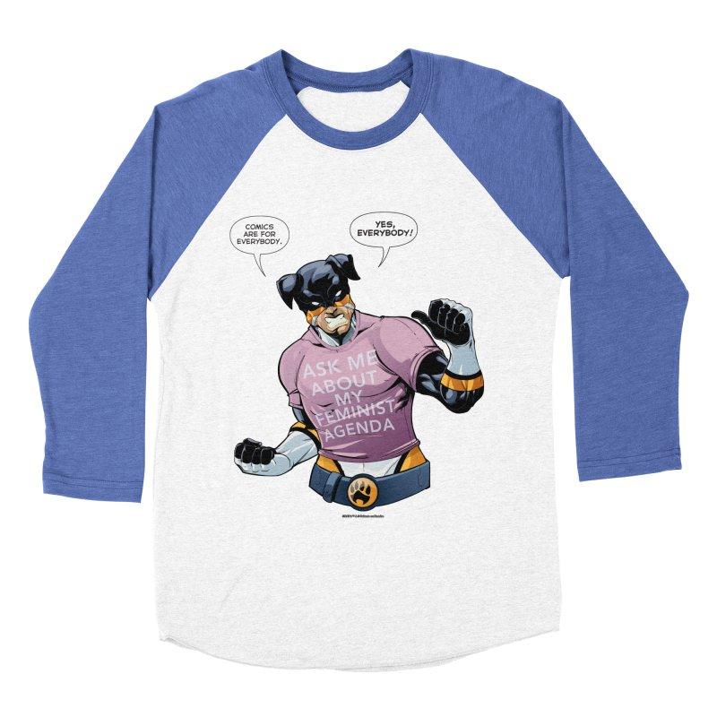Stray - Feminist Agenda Men's Baseball Triblend T-Shirt by Delsante & Izaakse's STRAY Comic
